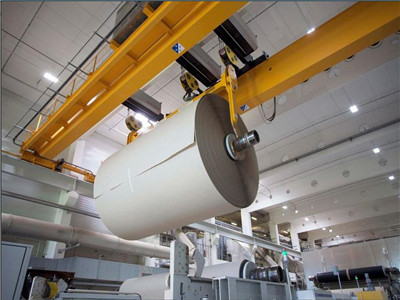 造纸业起重机应用
