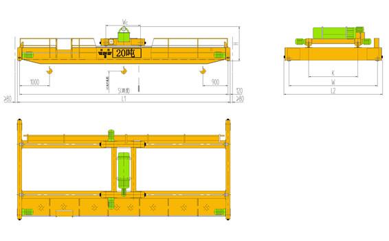 LH型20t双梁天车|20吨行车|20吨行吊